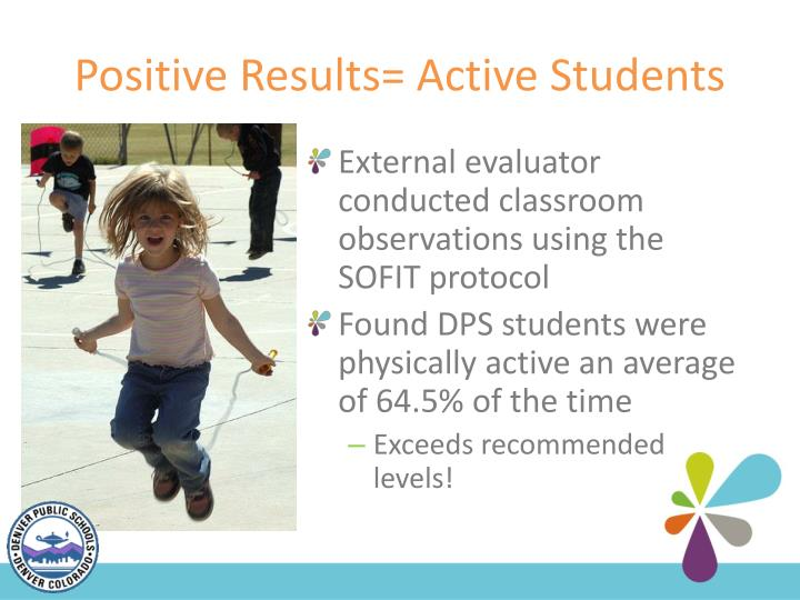 Positive Results= Active Students