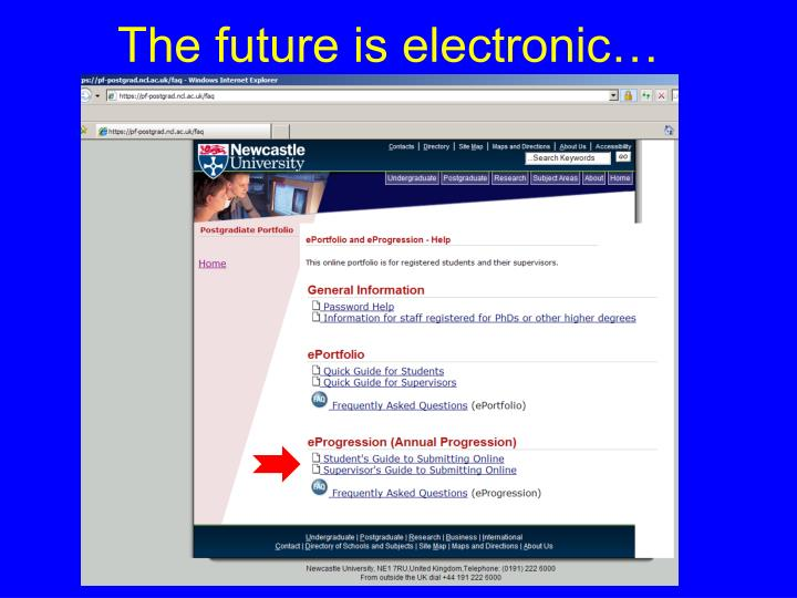The future is electronic…