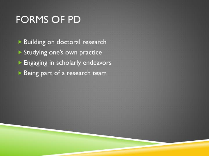 Forms of PD