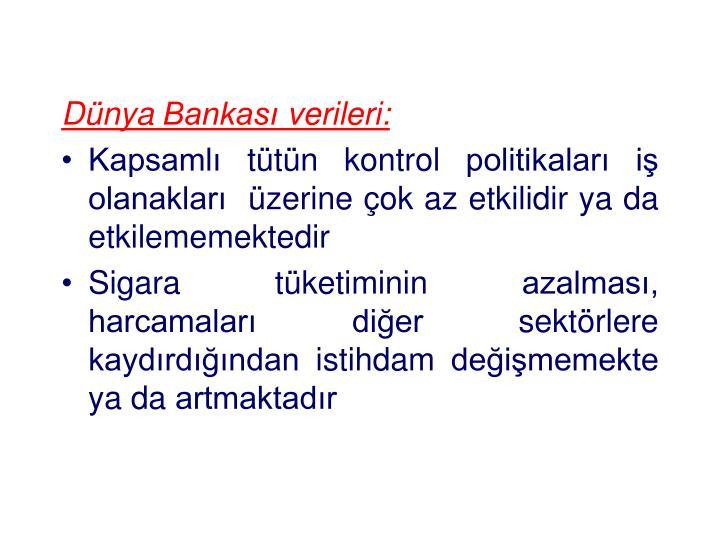 Dünya Bankası verileri: