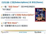subscripti ons items