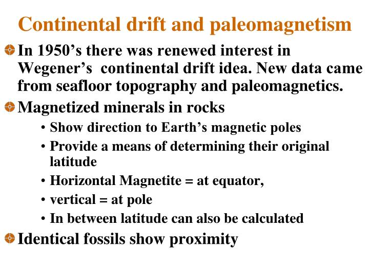 Continental drift and paleomagnetism