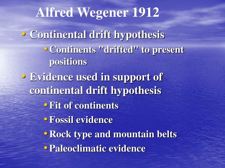Alfred Wegener 1912