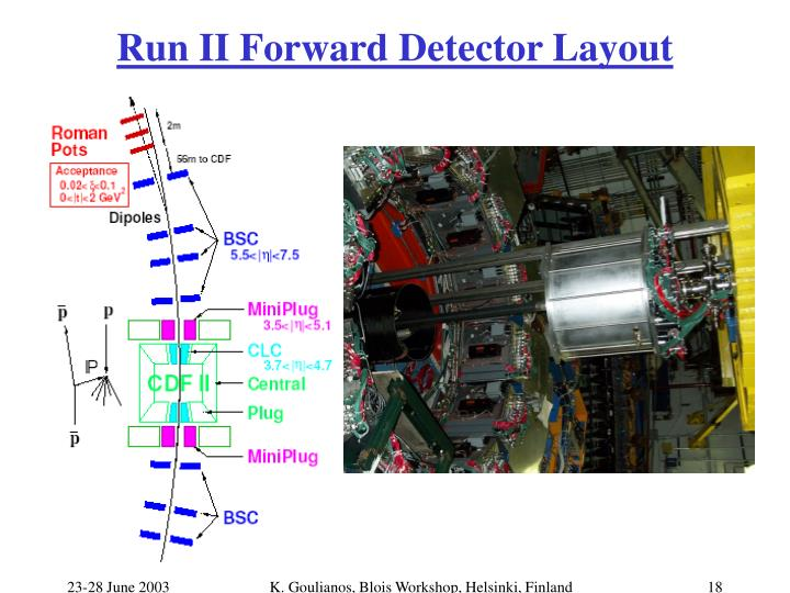Run II Forward Detector Layout