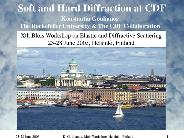 Soft and hard diffraction at cdf
