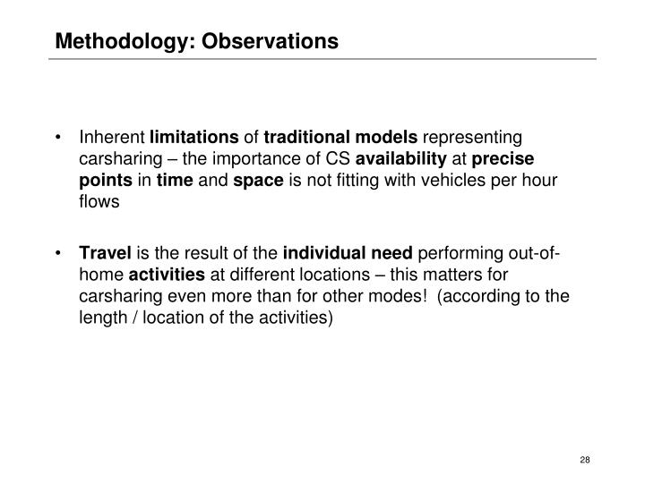 Methodology: Observations