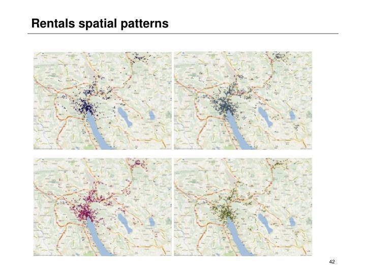Rentals spatial patterns
