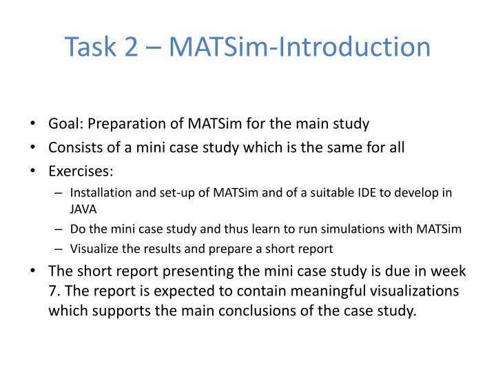 Task 2 – MATSim-Introduction