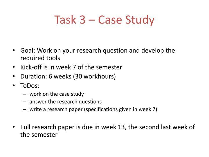 Task 3 – Case Study