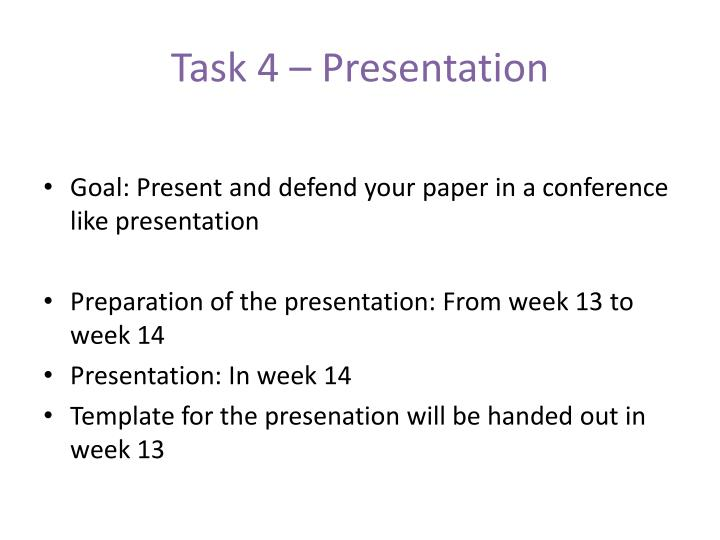 Task 4 – Presentation