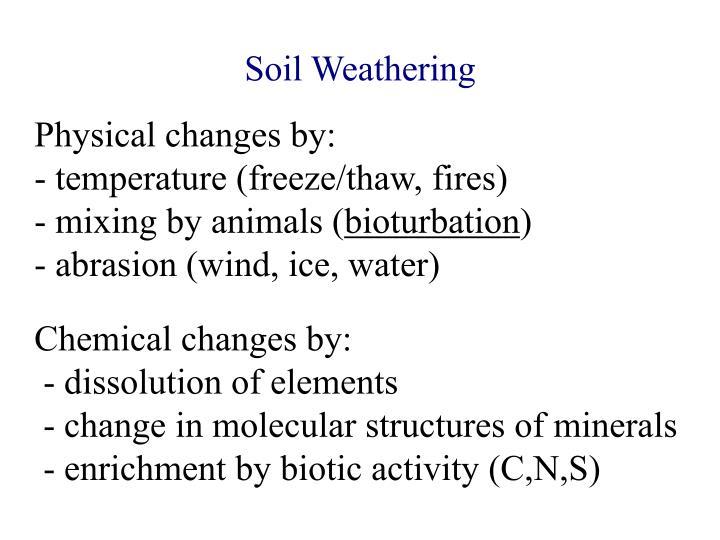 Soil Weathering