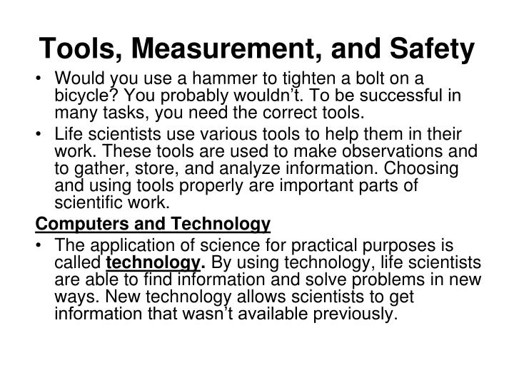 Tools measurement and safety1