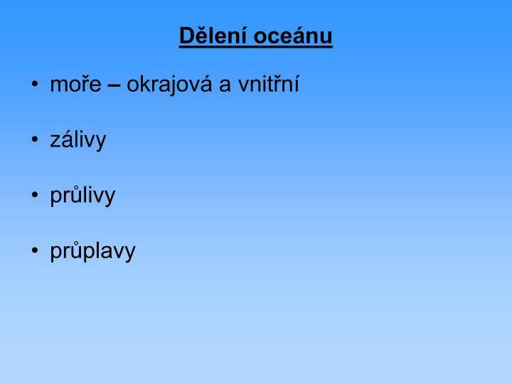 Dělení oceánu