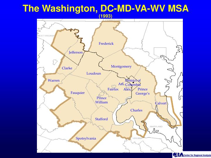 The Washington, DC-MD-VA-WV MSA