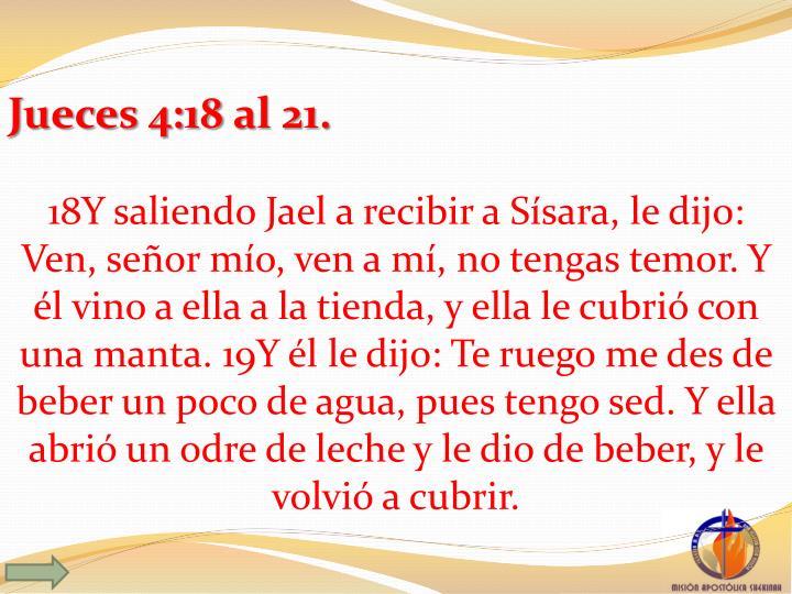 Jueces 4:18
