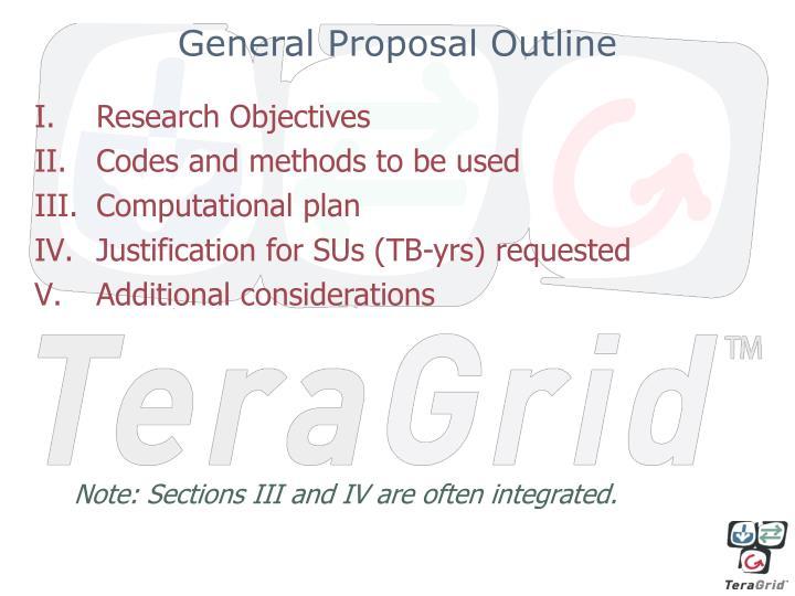General Proposal Outline