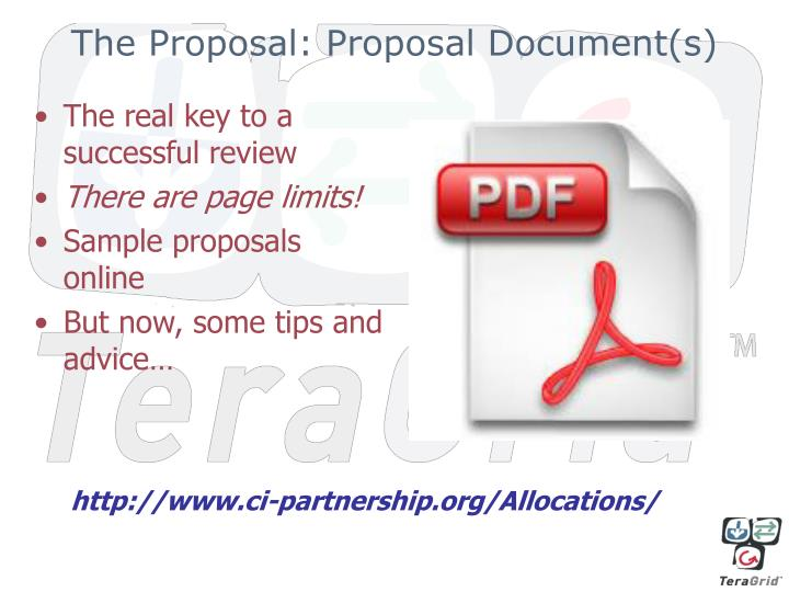 The Proposal: Proposal Document(s)