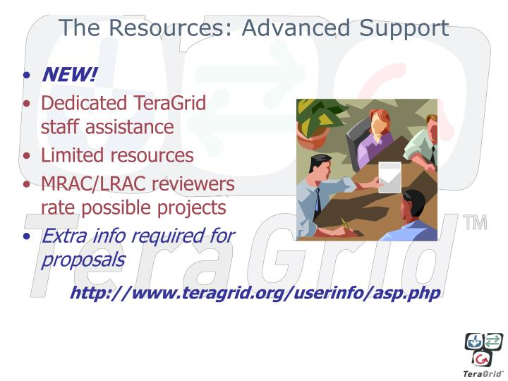 The Resources: Advanced Support