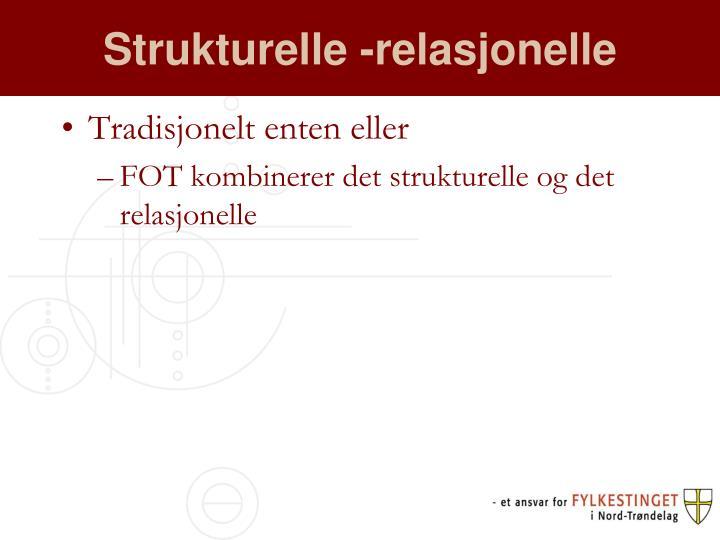 Strukturelle -relasjonelle