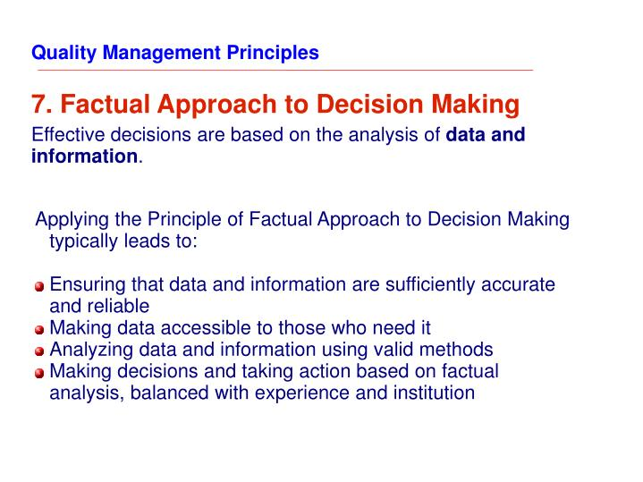 Quality Management Principles