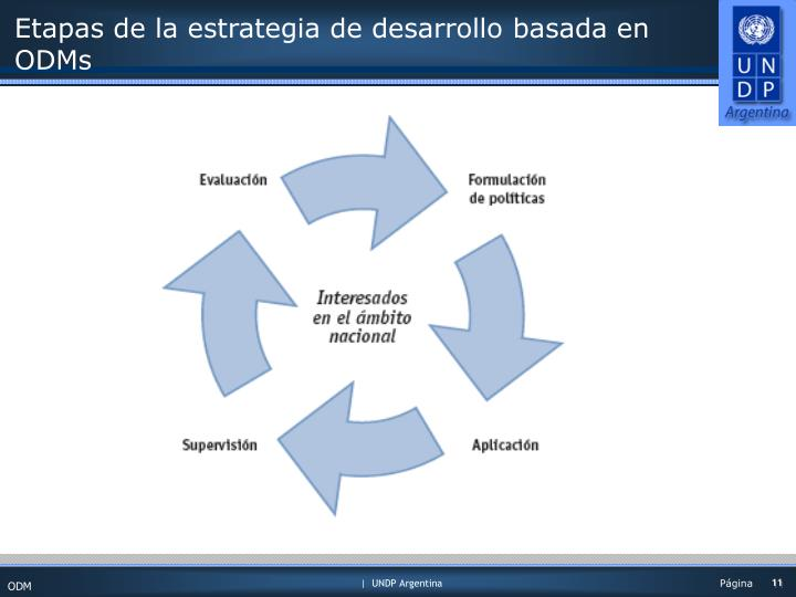 Etapas de la estrategia de desarrollo basada en ODMs