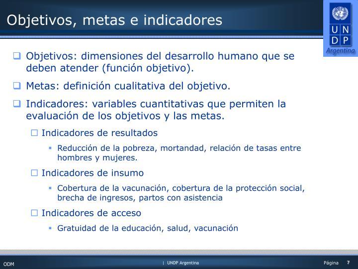 Objetivos, metas e indicadores