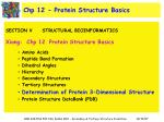 chp 12 protein structure basics