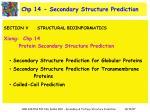 chp 14 secondary structure prediction