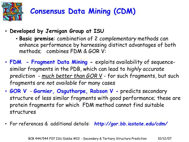 Consensus Data Mining (CDM)