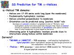 ss prediction for tm helices1