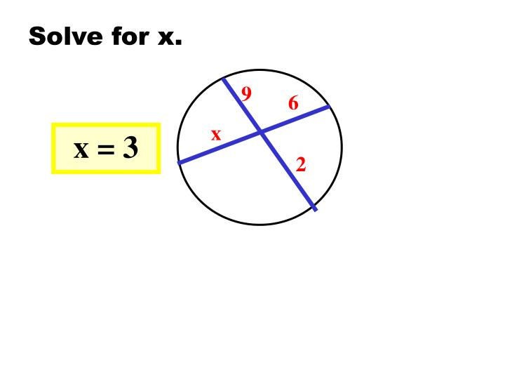 Solve for x.