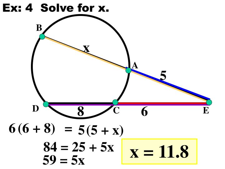Ex: 4  Solve for x.
