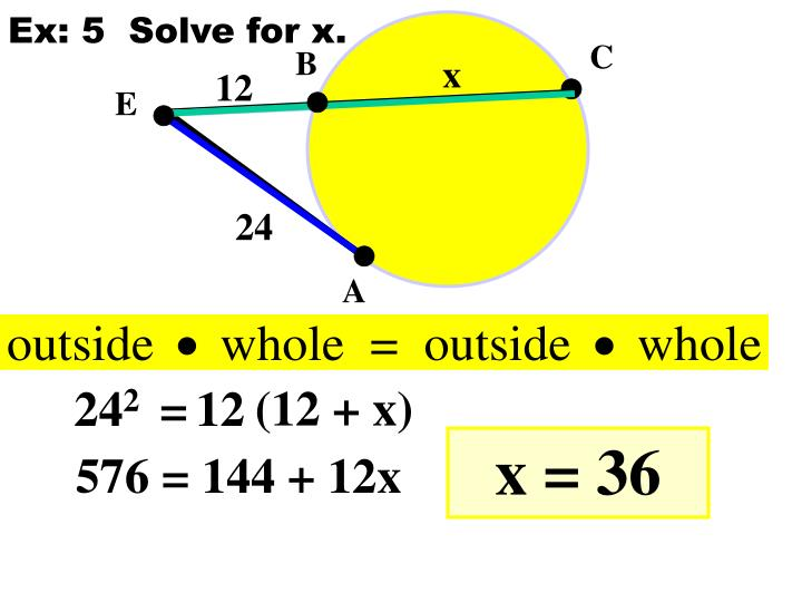 Ex: 5  Solve for x.