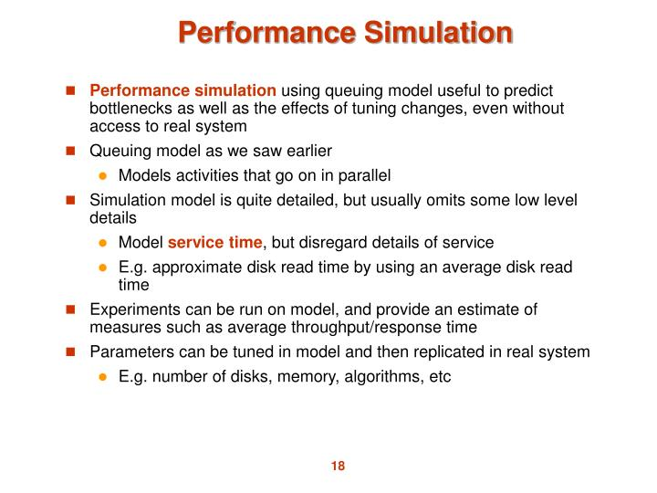 Performance Simulation