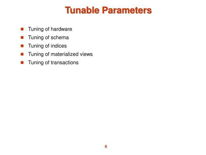 Tunable Parameters