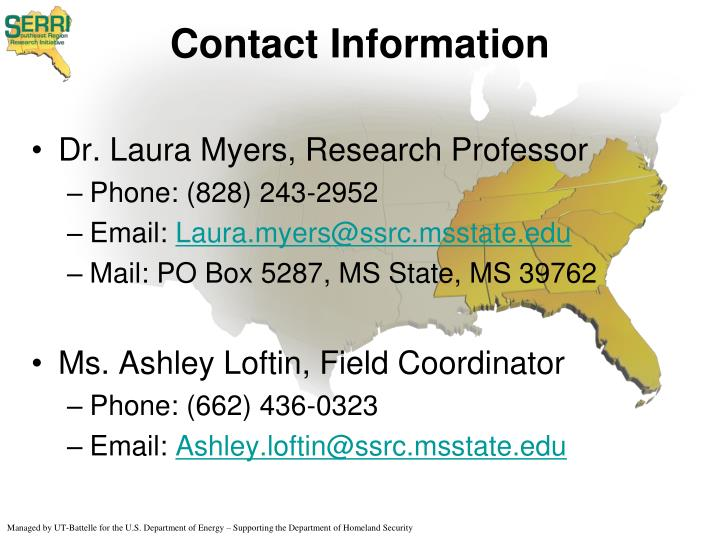 Dr. Laura Myers, Research Professor