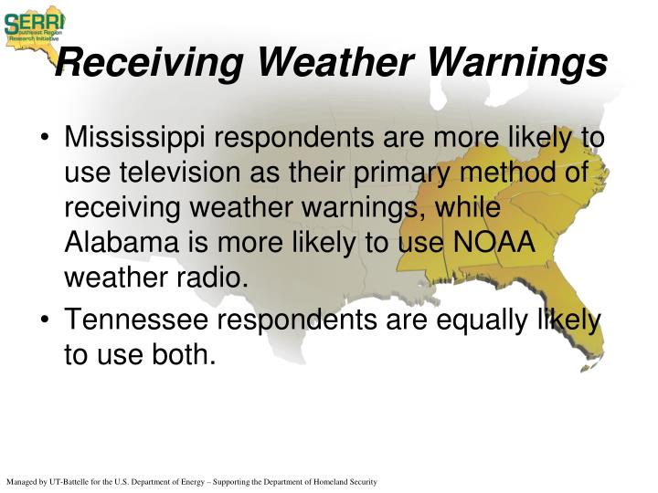 Receiving Weather Warnings