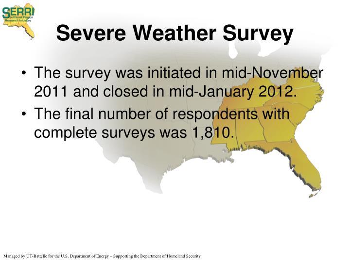 Severe Weather Survey