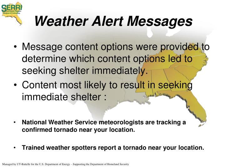 Weather Alert Messages