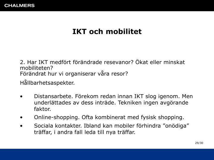 IKT och mobilitet