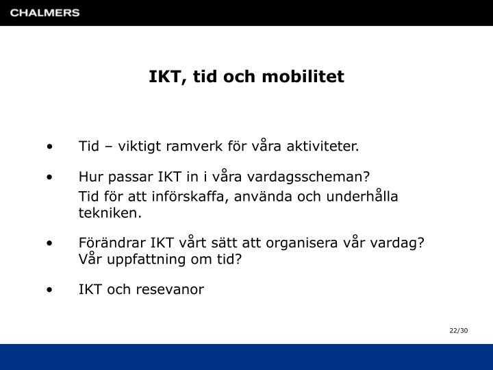 IKT, tid och mobilitet