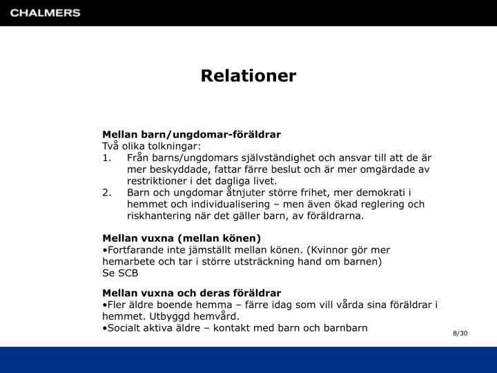 Relationer