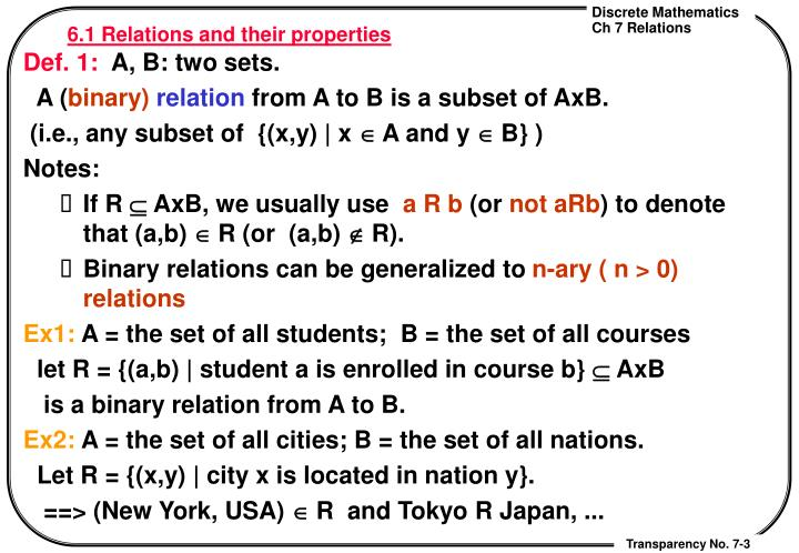 6 1 relations and their properties