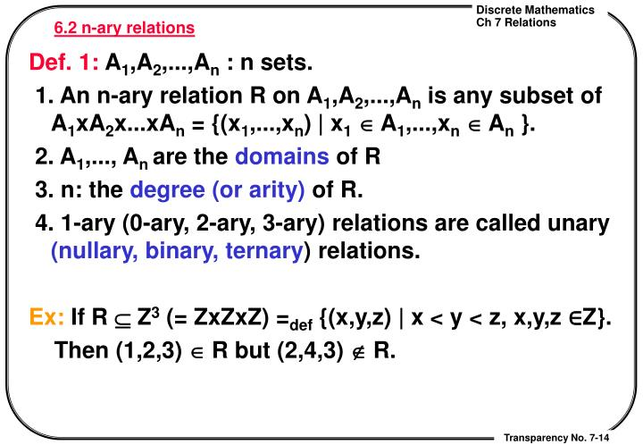 6.2 n-ary relations