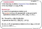 congruence relation