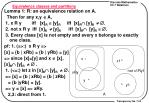 equivalence classes and partitions