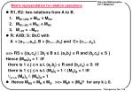 matrix representation for relation operations