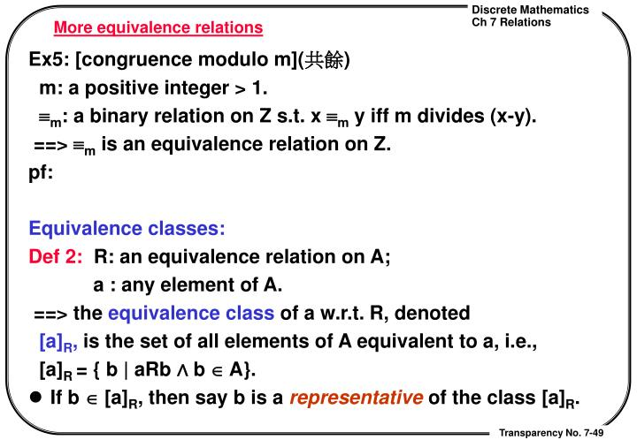 More equivalence relations