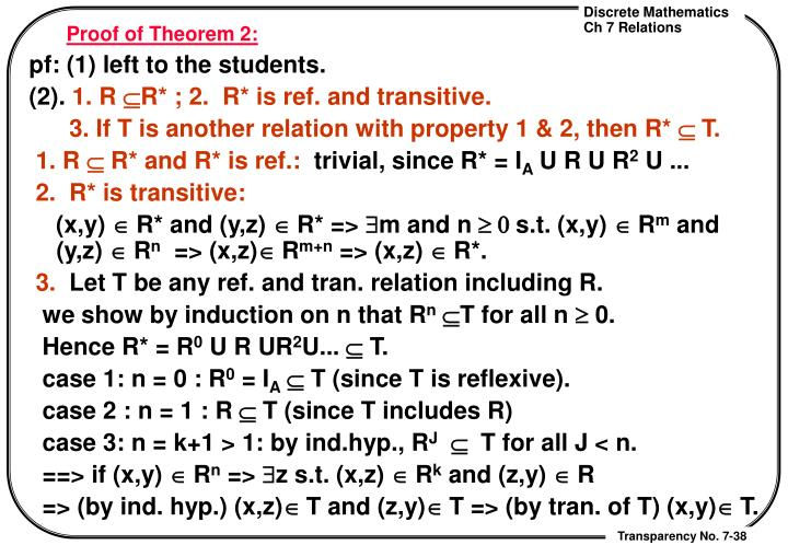 Proof of Theorem 2: