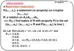 relation operations